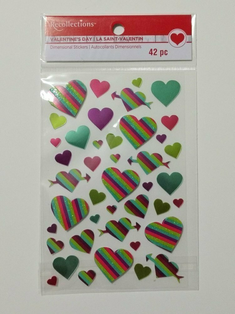 Recollections HEARTS Dimensional Sticker