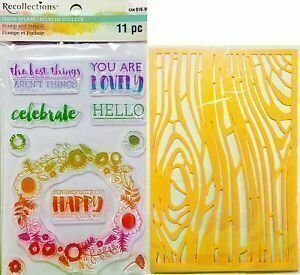 Recollections YOU ARE LOVELY Color Splash Stamp and Stencil