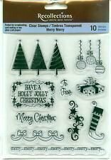 Recollections MERRY MERRY Clear Stamp Set