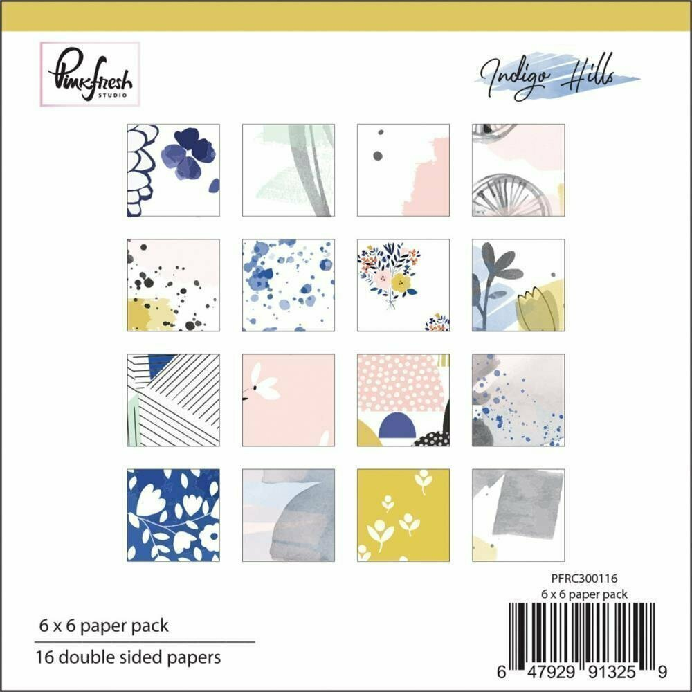 Pinkfresh Studio INDIGO HILLS Paper Pack
