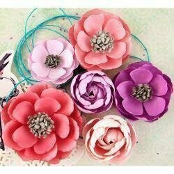 Prima Marketing ELIZABETH Royal Menagerie Mulberry Paper Flowers