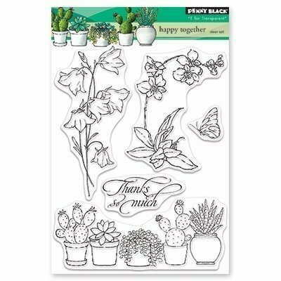 Penny Black HAPPY TOGETHER Clear Stamp Set