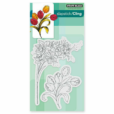 Penny Black FLOWER GALA Cling Stamp