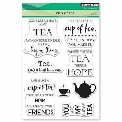 Penny Black CUP OF TEA Clear Stamp Set