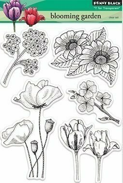 Penny Black BLOOMING GARDEN Clear Stamps