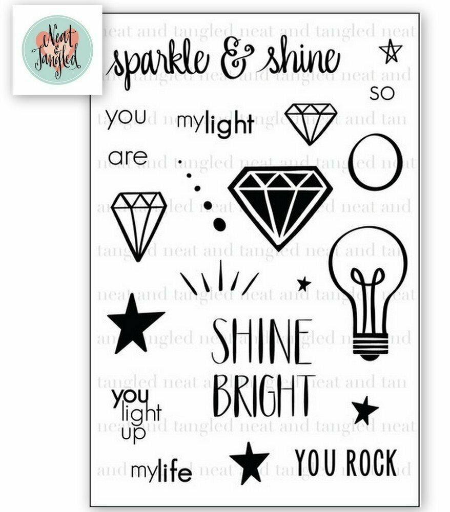 Neat & Tangled SPARKLE AND SHINE Clear Stamp Set