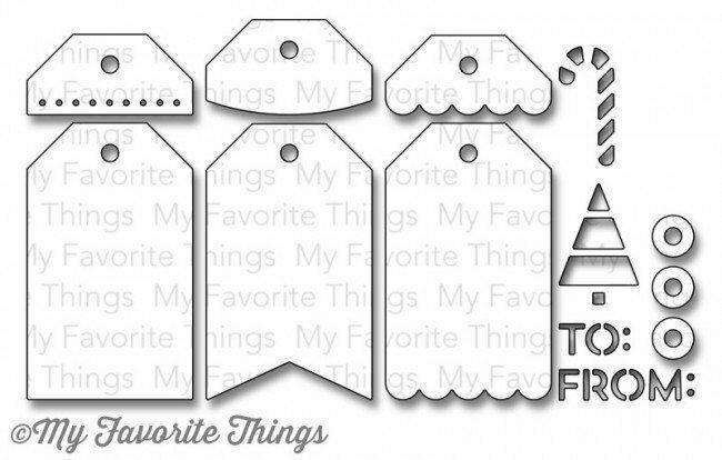 My Favorite Things TAG BUILDER Blueprints 2 Die-namics Die Set