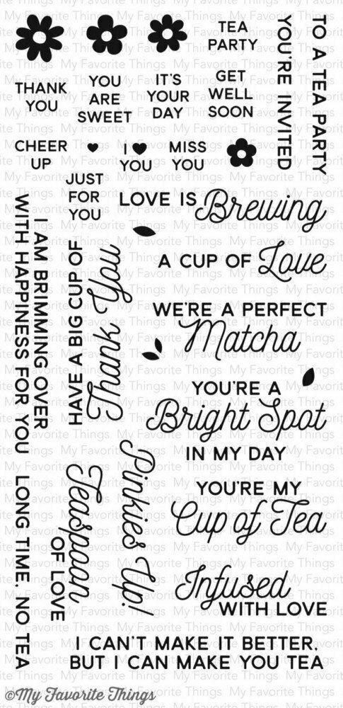 My Favorite Things CUP OF TEA Clear Stamp Set