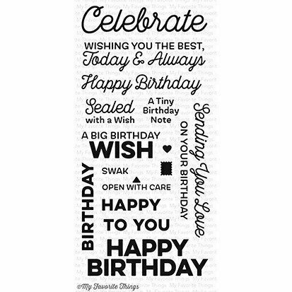 My Favorite Things BIG BIRTHDAY WISHES Clear Stamp Set