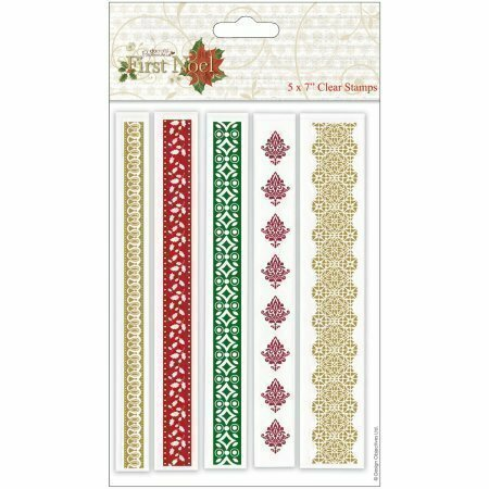 Docrafts FIRST NOEL- BORDERS Clear Stamp Set