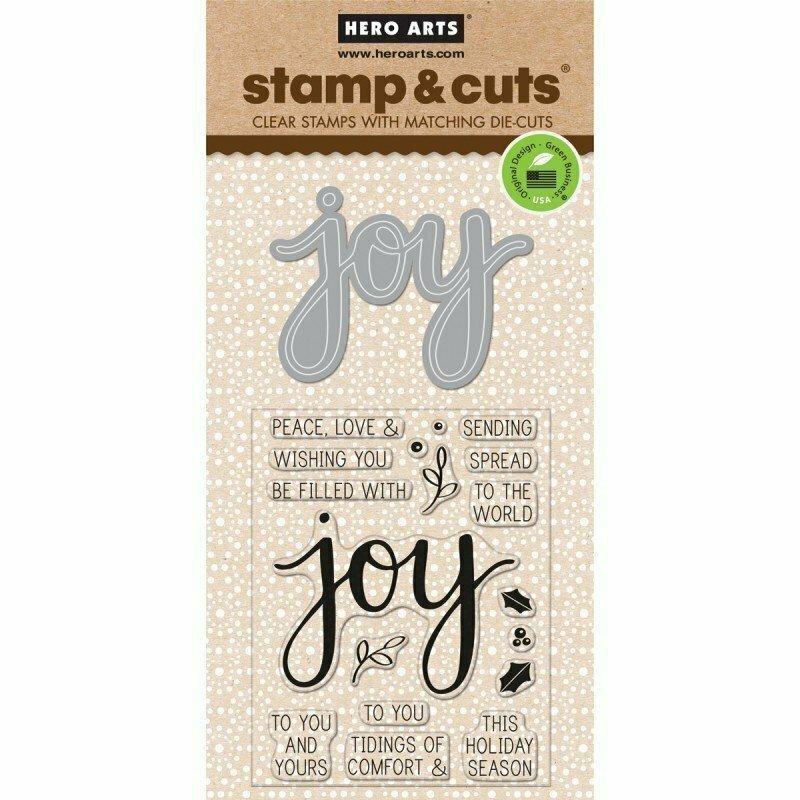 Hero Arts Stamp & Cuts JOY Stamp & Die Set