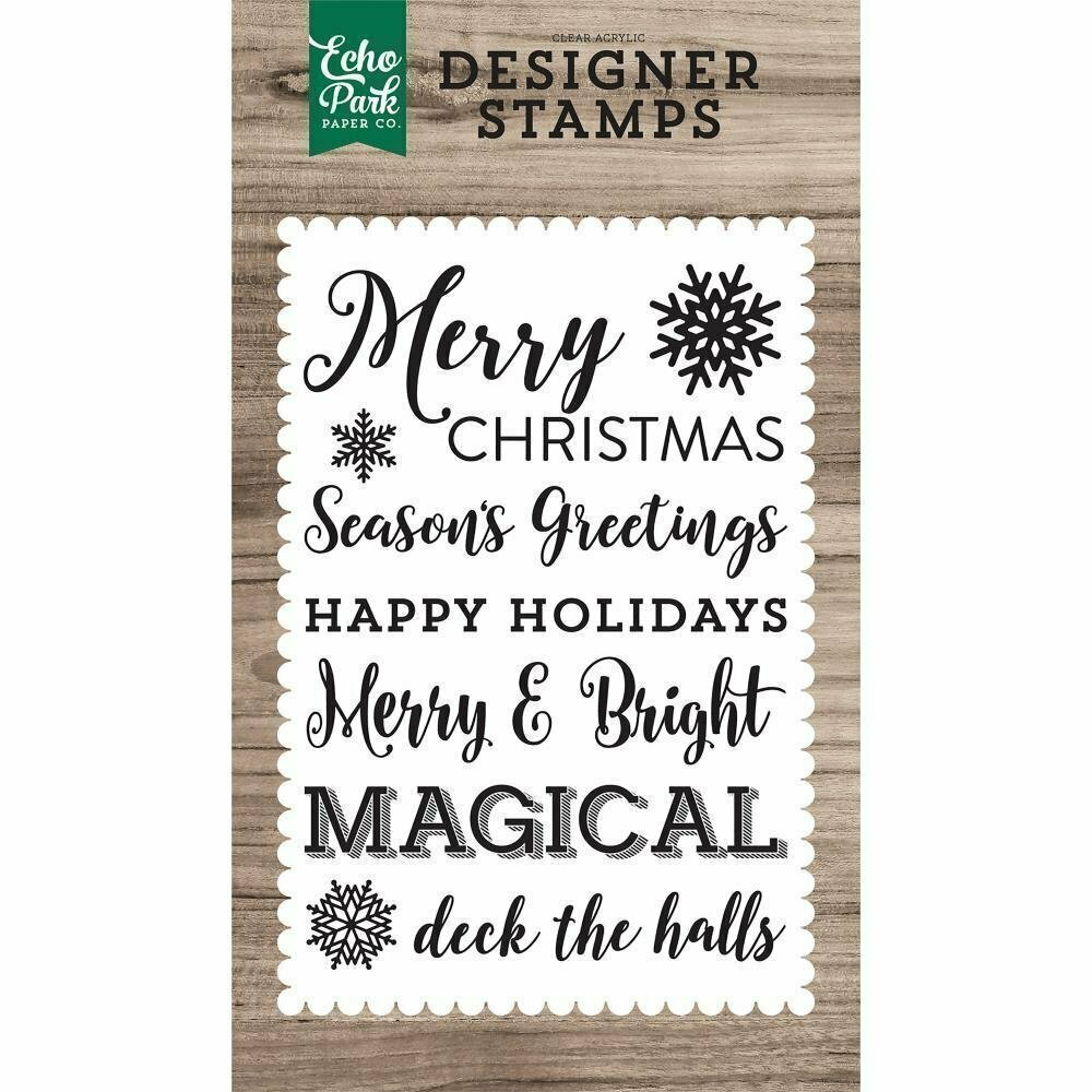 Echo Park MAGICAL SENTIMENTS Clear Stamp Set