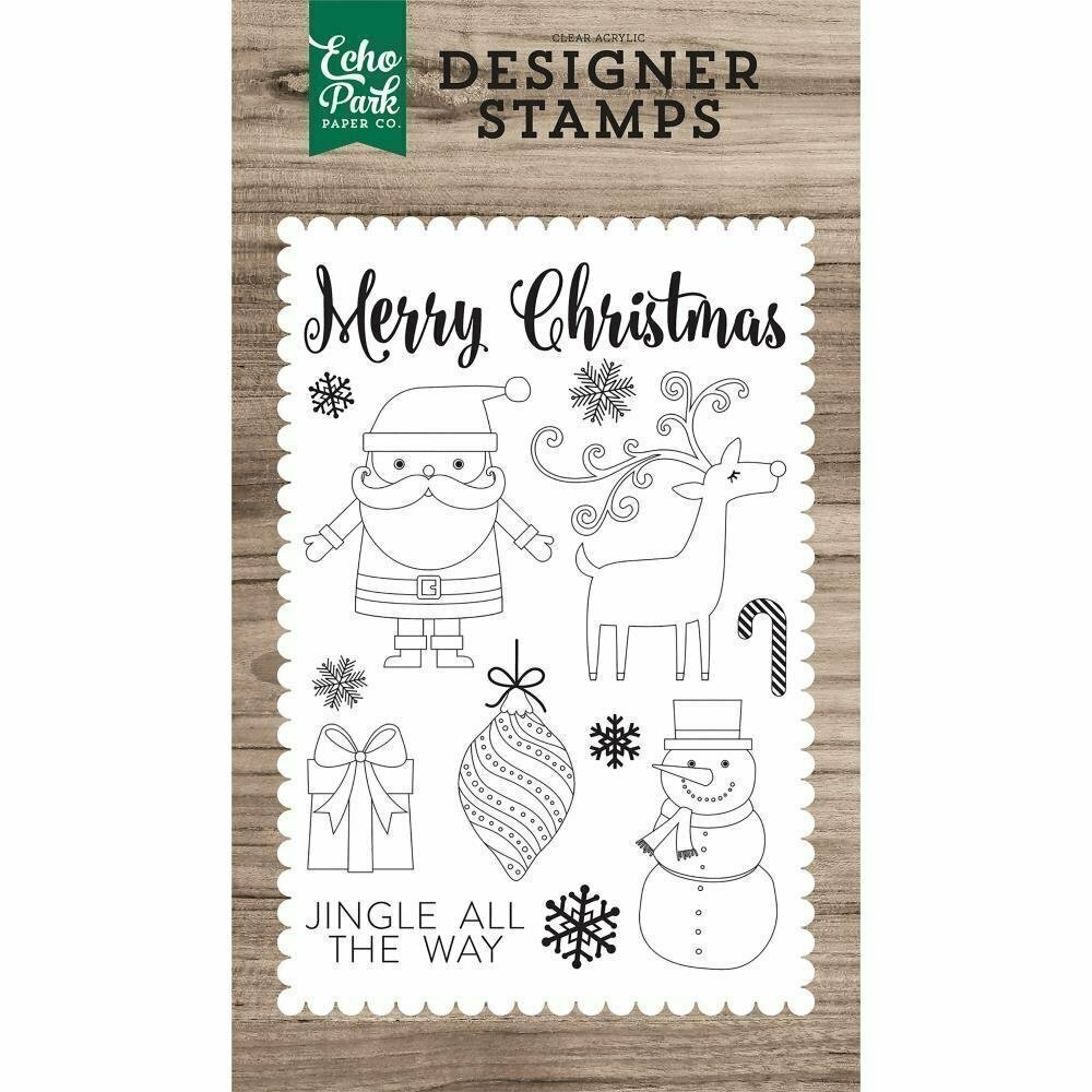 Echo Park CHRISTMAS DAY Clear Stamp Set