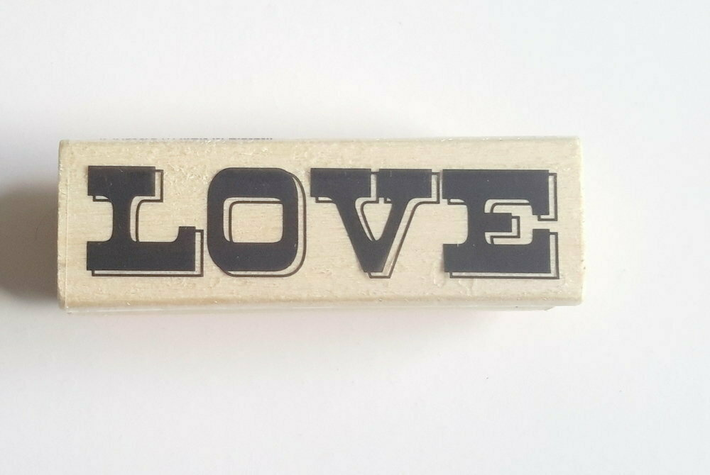 LOVE Word Wood Mounted Rubber Stamp