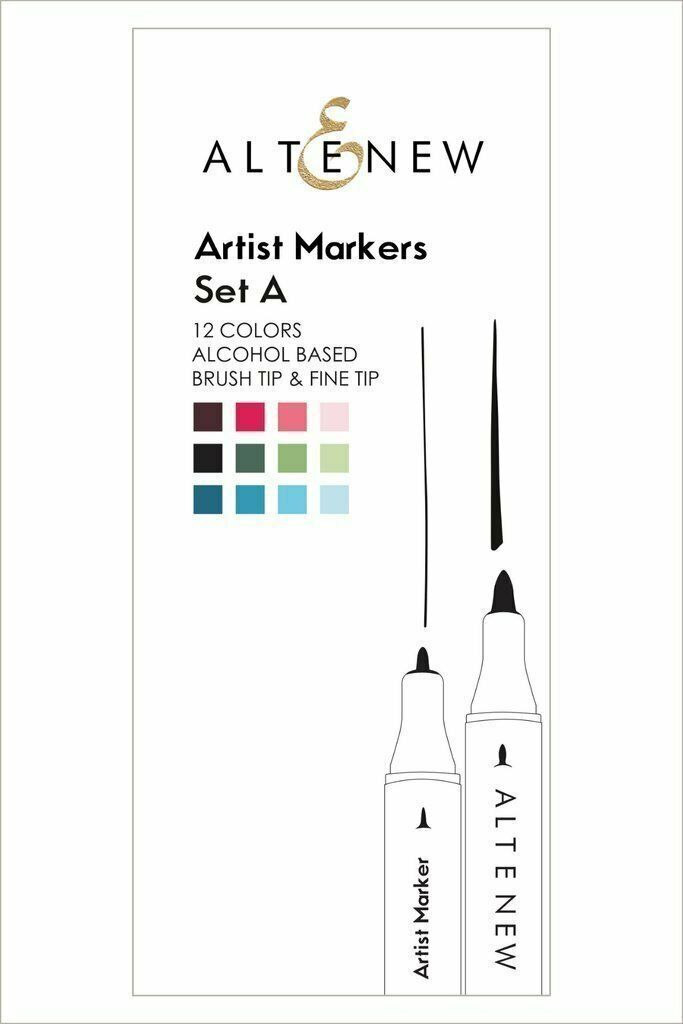 Altenew ARTIST ALCOHOL MARKERS SET-A