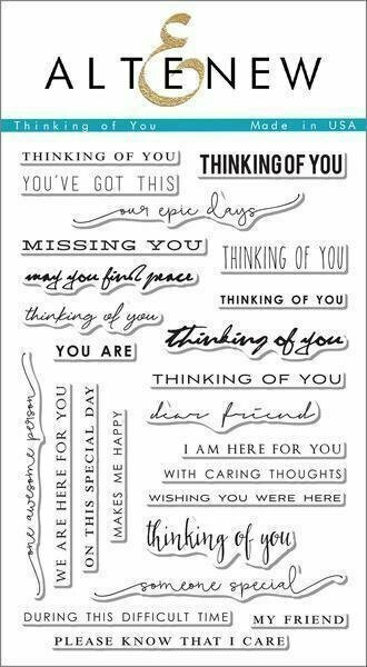 Altenew THINKING OF YOU Clear Stamp Set