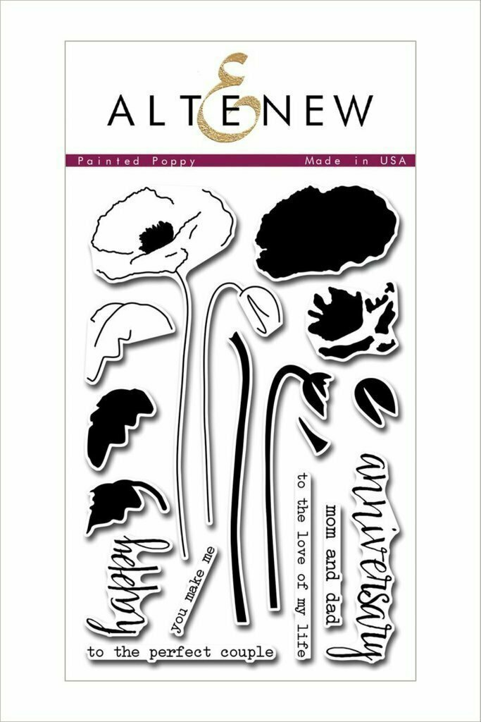 Altenew PAINTED POPPY Clear Stamp Set