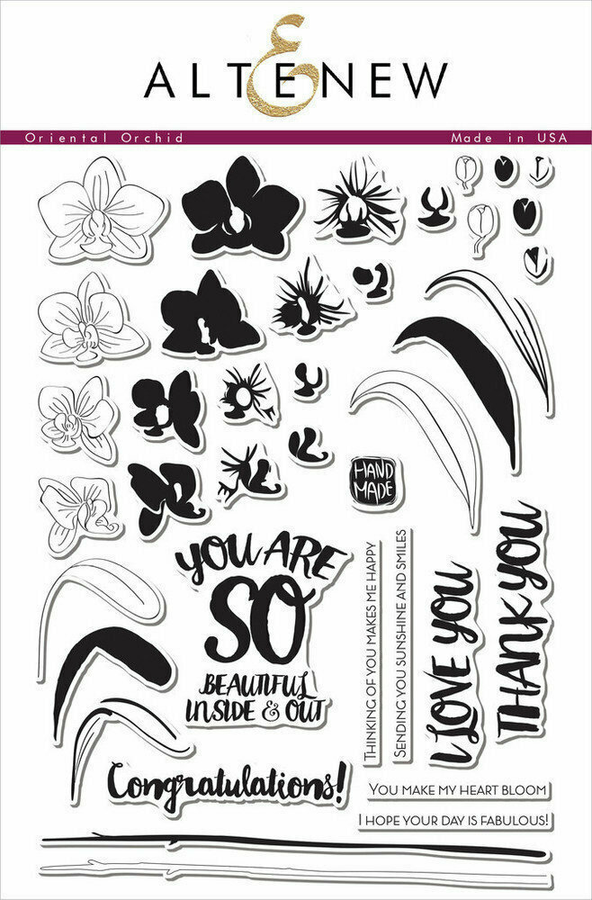 Altenew ORIENTAL ORCHID Clear Stamp Set