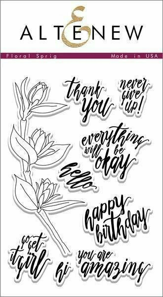 Altenew FLORAL SPRIG Clear Stamp Set