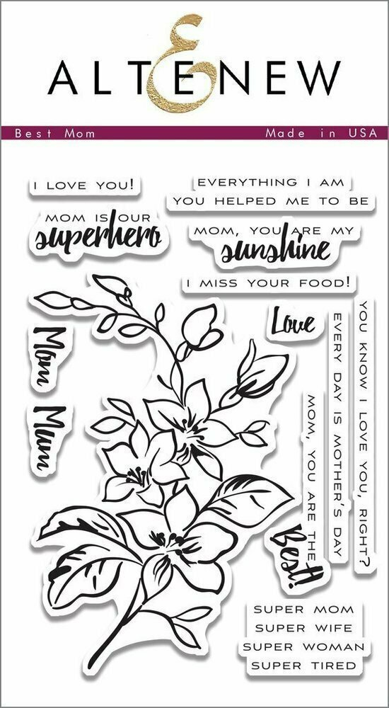 Altenew BEST MOM Clear Stamp Set