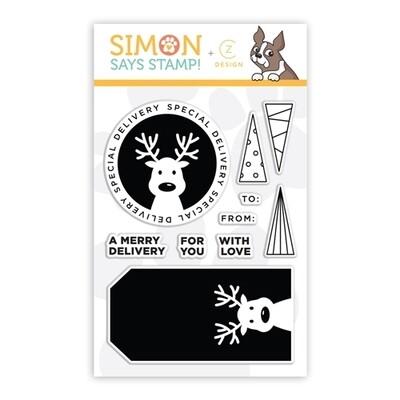 CZ Design DEER DELIVERY Clear Stamp Set