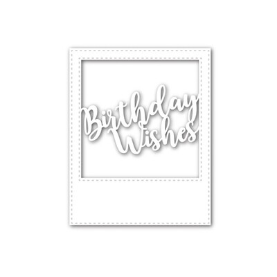 Simon Says Stamp BIRTHDAY WISHES FRAME Wafer Die Set