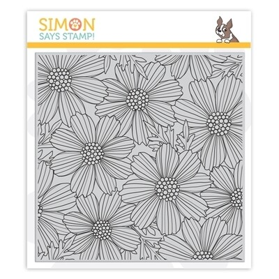 Simon Says COSMOS BLOOM BACKGROUND Cling Stamp