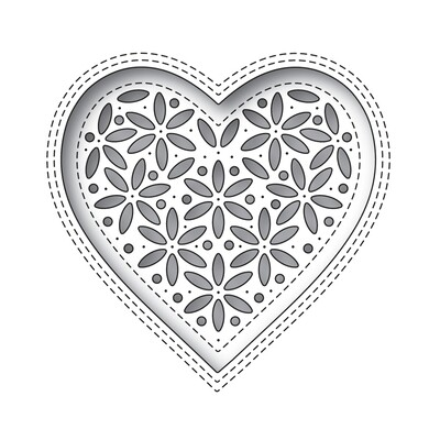 Simon Says Stamp SHIMMER HEART Die Set