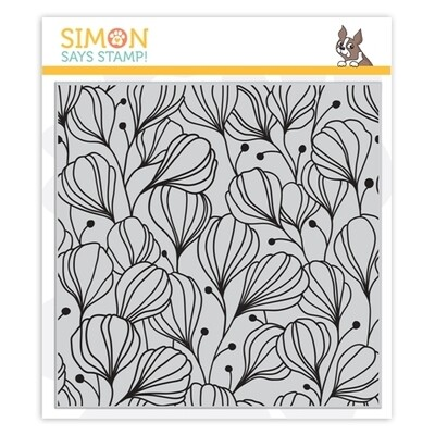 Simon Says Stamp FLORA BACKGROUND Cling Stamp
