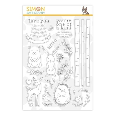 Simon Says Stamp WOODLAND WHIMSY Clear Stamp Set