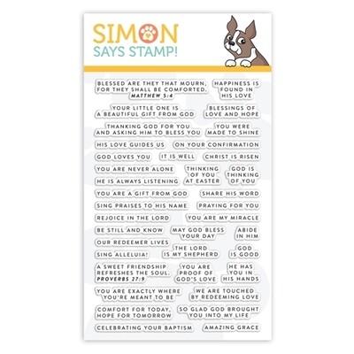 Simon Says Stamp TINY WORDS FAITH Clear Stamp Set