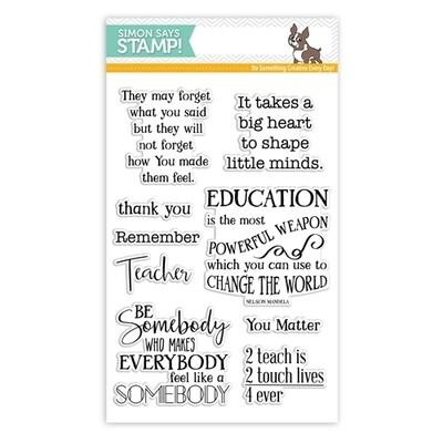 Simon Says Stamp THANK YOU TEACHER Clear Stamp Set