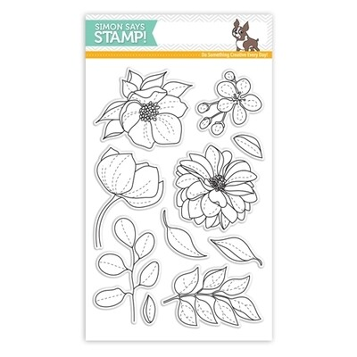Simon Says Stamp EVEN MORE SPRING FLOWERS Clear Stamp Set
