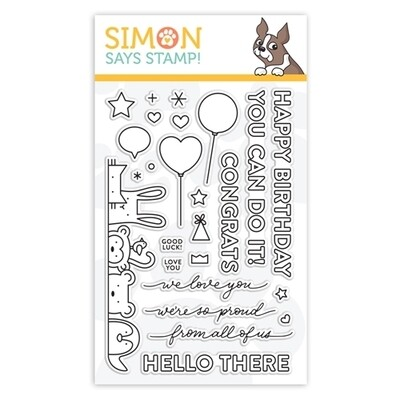 Simon Says Stamp CRITTER CROWD Clear Stamp Set