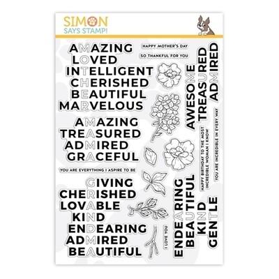 Simon Says Stamp INCREDIBLE WOMAN Clear Stamp Set