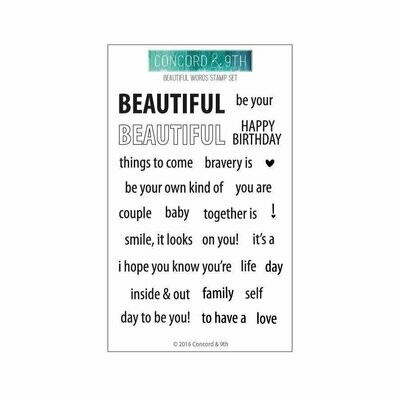 Concord & 9th BEAUTIFUL WORDS Stamp Set