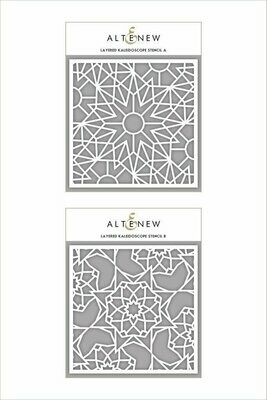 Altenew Layered Kaleidoscope A & B Stencil Bundle