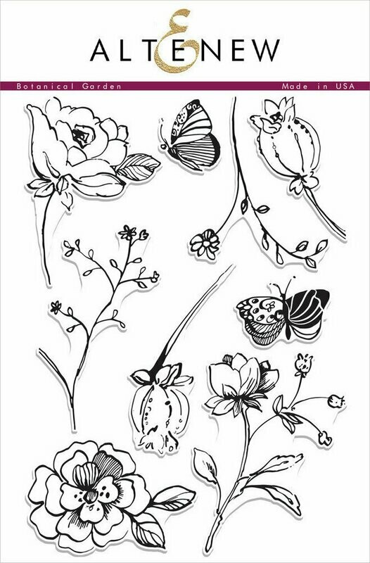 Altenew BOTANICAL GARDEN Clear Stamp Set