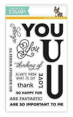 Simon Says Stamp BIG U Words Clear Stamp Set