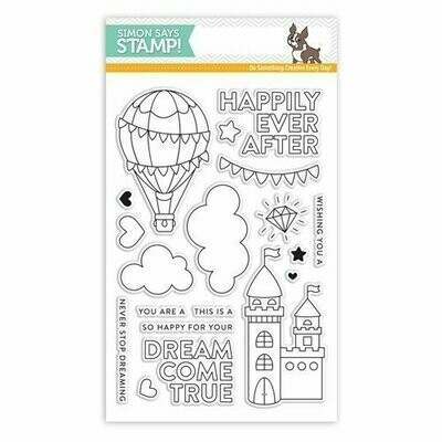 Simon Says Stamp DREAM COME TRUE Clear Stamp Set