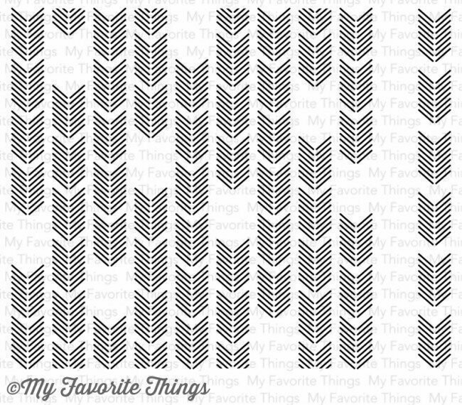 My Favorite Things ARROW ENDS Background Builder Cling Stamp