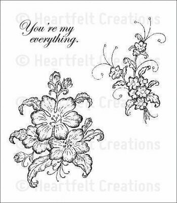 Heartfelt Creations ARIANNA BLOOMS BOUQUET Cling Stamp Set