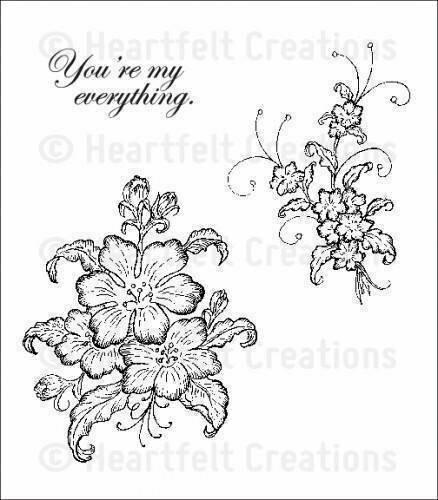 Heartfelt Creations ARIANNA BLOOMS BOUQUET Cling Stamp Set