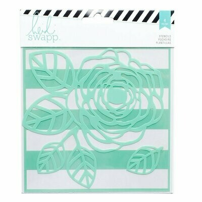 Heidi Swapp FLOWER Mixed Media Stencil 6X6