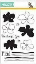 Simon Says Stamp ARTFUL FLOWERS Clear Stamp Set