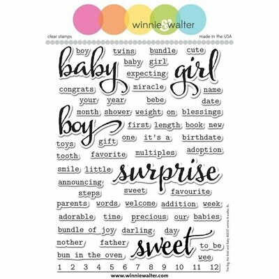 Winnie & Walter THE BIG THE BOLD AND BABY Clear Stamp Set