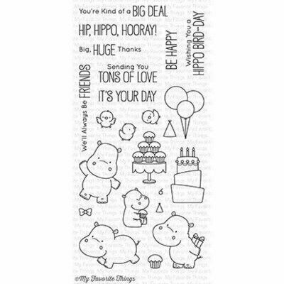 My Favorite Things HAPPY HIPPO Clear Stamp Set