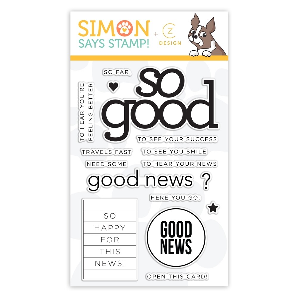 Simon Says Stamp SO FAR SO GOOD Clear Stamp Set