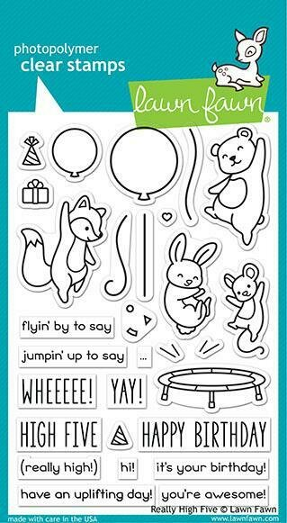 Lawn Fawn REALLY HIGH FIVE Stamp Set