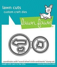 Lawn Fawn REVEAL WHEEL CIRCLE SENTIMENTS Die Set